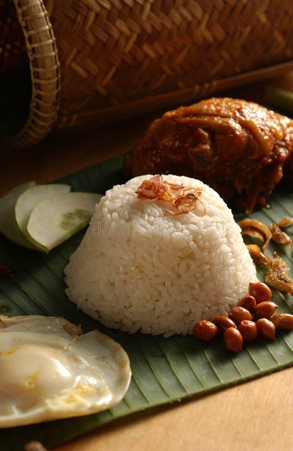 Aziatische voedsel-Nasi Lemak stock fotografie