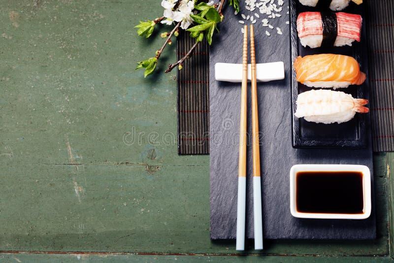 Aziatische voedselachtergrond royalty-vrije stock afbeelding