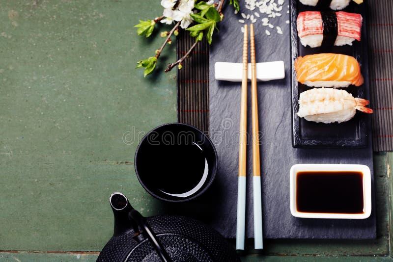 Aziatische voedselachtergrond stock foto