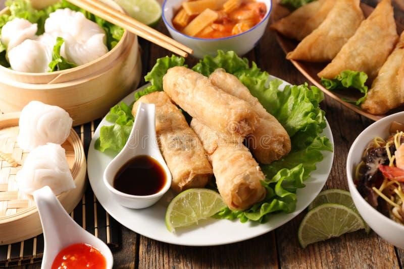 Aziatische voedselselectie royalty-vrije stock foto