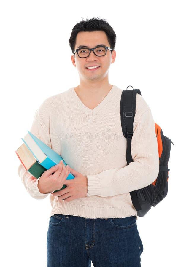 Aziatische volwassen student royalty-vrije stock afbeelding