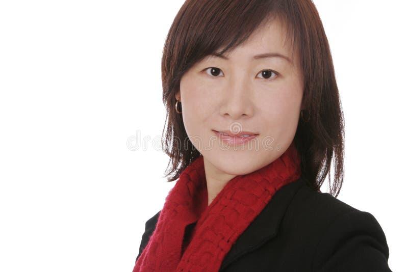 Aziatische Vrouw met de Kleren van de Winter royalty-vrije stock foto's