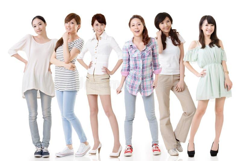 Aziatische vrouwen stock afbeelding