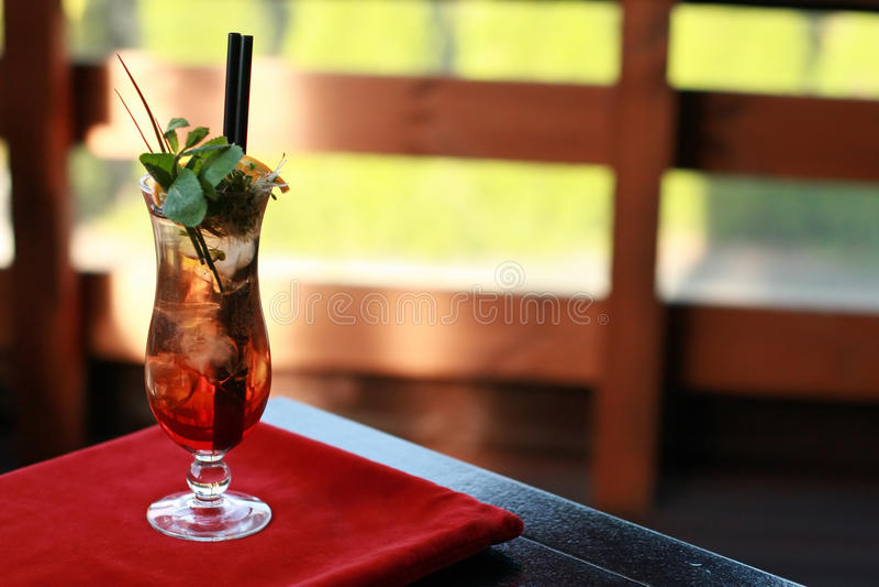 Aziatische wodka met ijsdrank royalty-vrije stock afbeelding