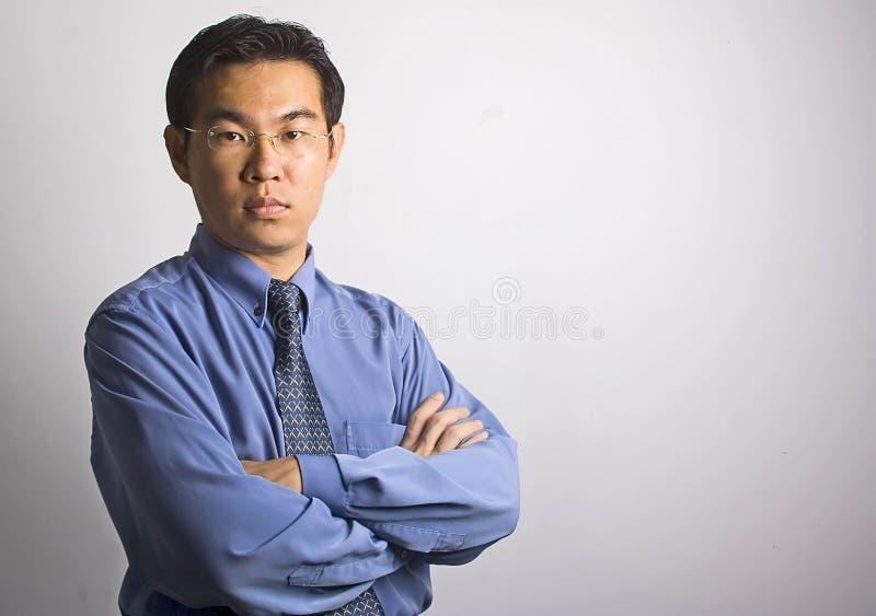 Aziatische Zakenman stock foto's