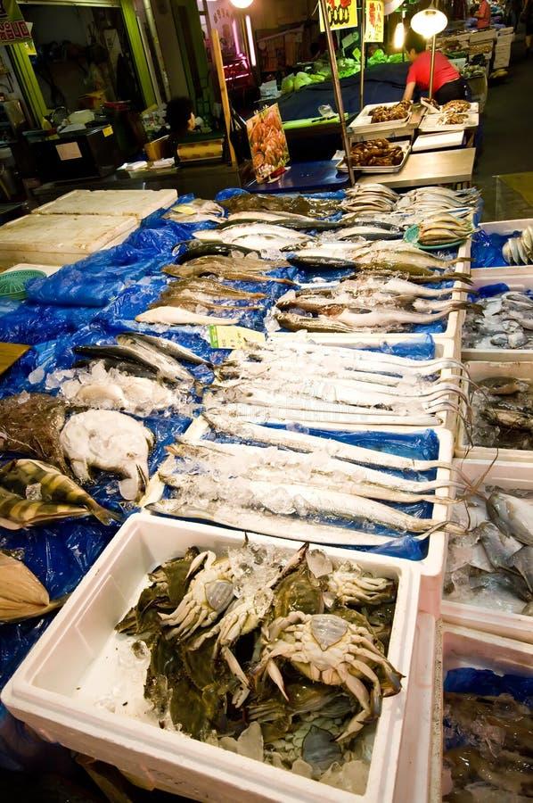 Aziatische zeevruchtenmarkt royalty-vrije stock fotografie