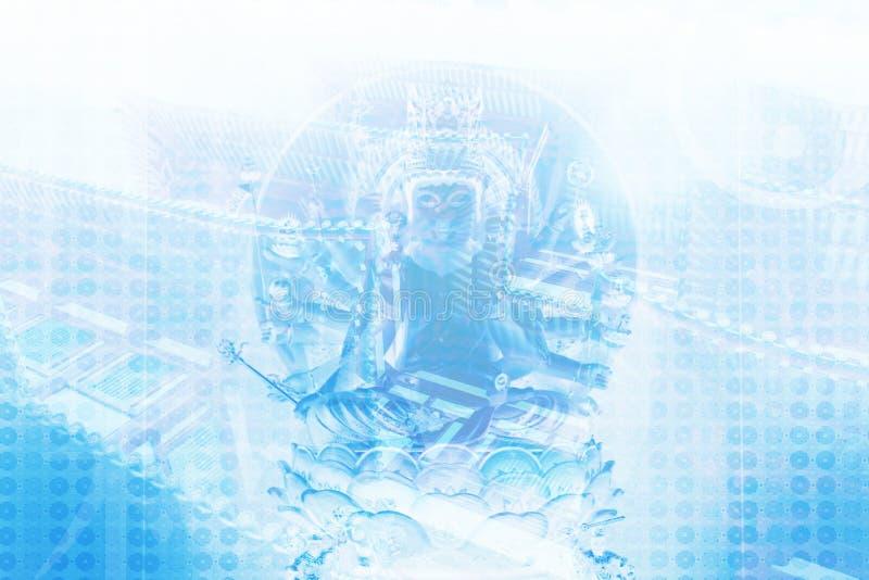 Aziatische Zen die de Abstracte Achtergrond van de Collage kalmeert royalty-vrije illustratie