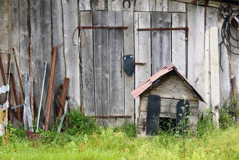 Azienda agricola abbandonata fotografie stock