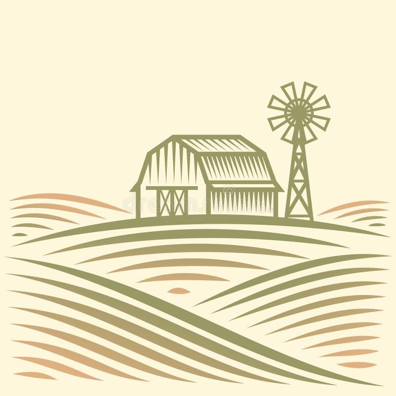Azienda agricola americana illustrazione vettoriale