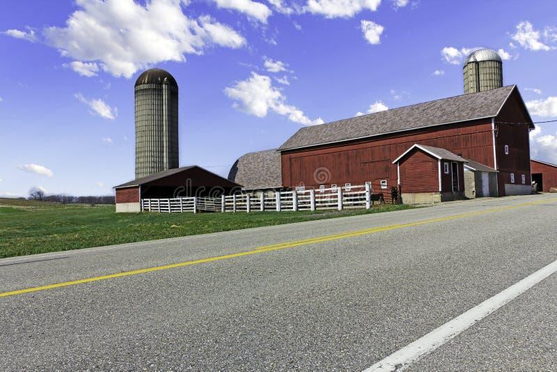 Azienda agricola americana del paese fotografia stock libera da diritti
