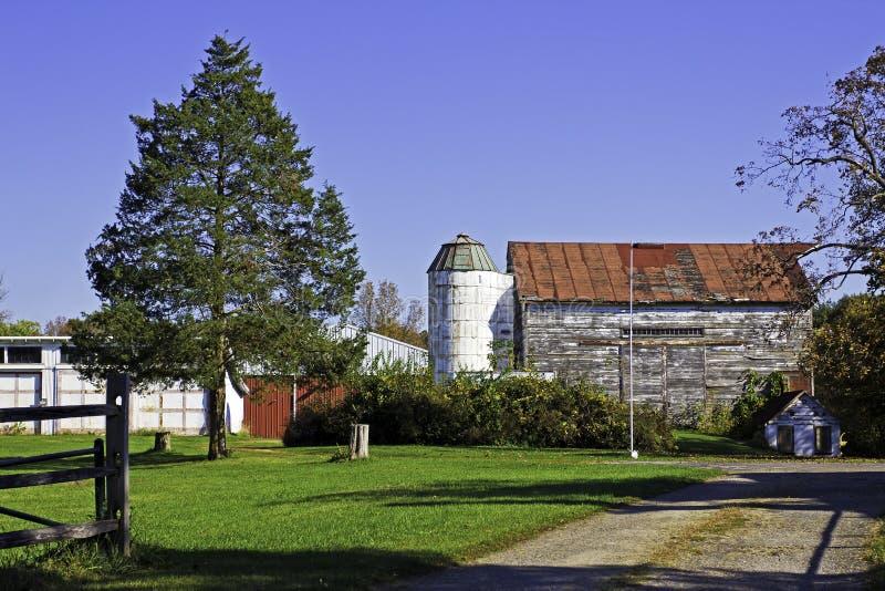 Azienda agricola americana tipica fotografie stock libere da diritti