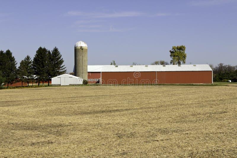 Azienda agricola americana tipica fotografie stock