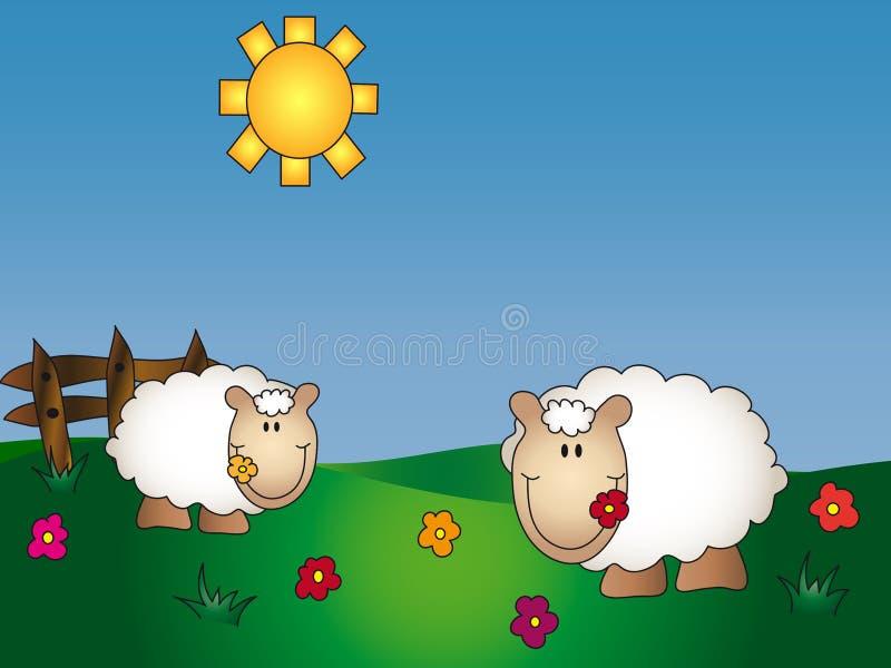 azienda agricola animale del fumetto illustrazione vettoriale
