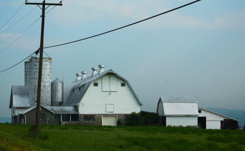 Azienda agricola dalla strada fotografia stock libera da diritti