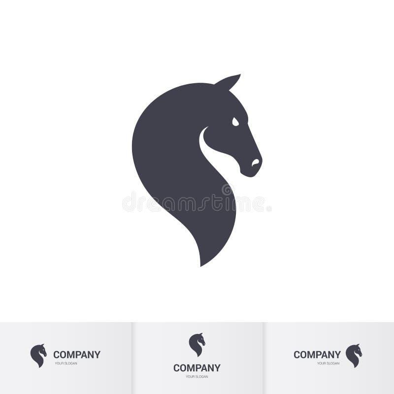 Azienda agricola del cavallo Head illustrazione di stock