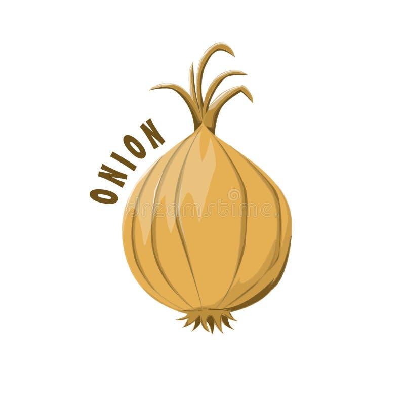 Azienda agricola della cipolla di progettazione dell'icona di logo fotografia stock libera da diritti