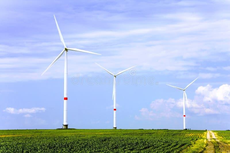 Azienda agricola della turbina di vento immagini stock