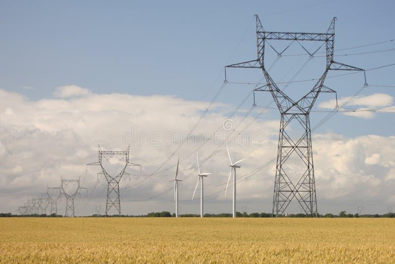 Azienda agricola di vento verde di energia immagine stock