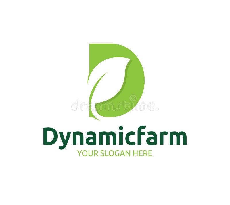 Azienda agricola dinamica Logo Template illustrazione vettoriale