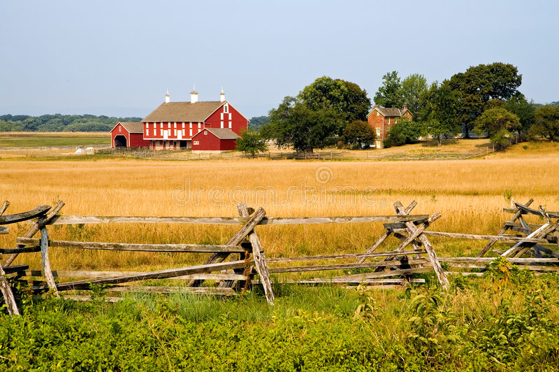 Azienda agricola a Gettysburg fotografia stock libera da diritti