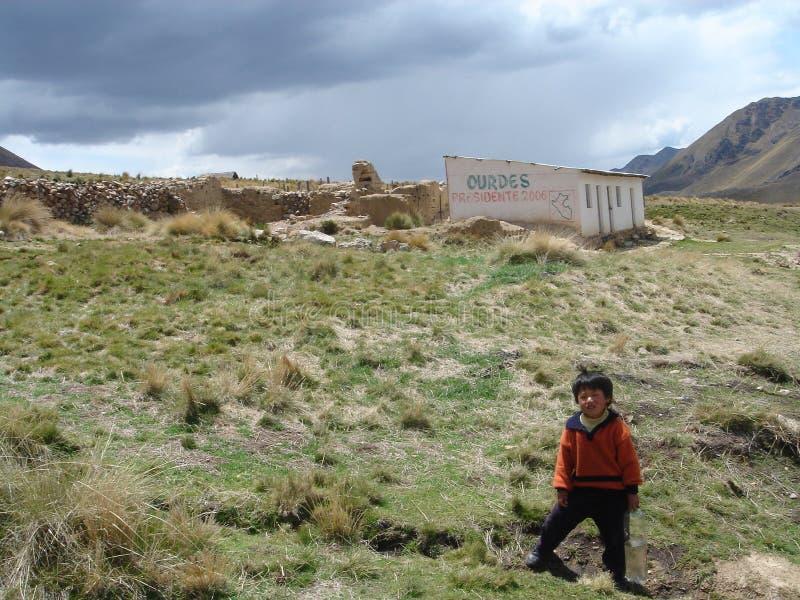 Azienda agricola nel Perù fotografia stock libera da diritti