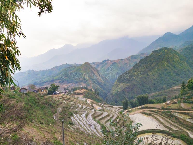 Azienda agricola in Sapa immagini stock