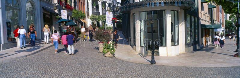Azionamento del rodeo a Beverly Hills, fotografia stock libera da diritti