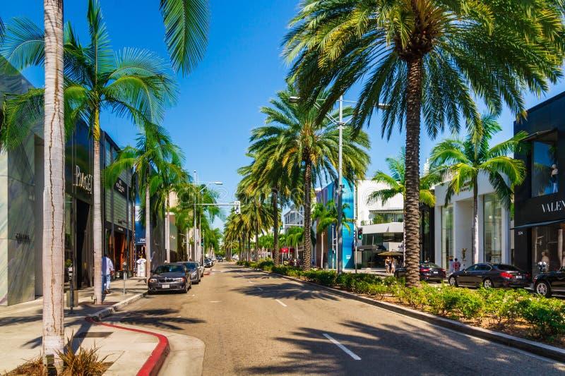 Azionamento del rodeo a Beverly Hills fotografia stock libera da diritti