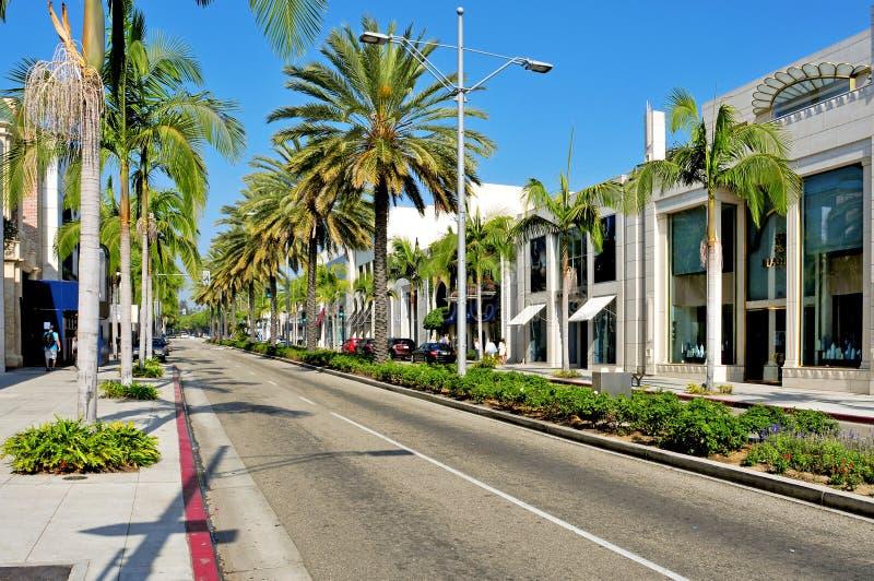 Azionamento del rodeo, Beverly Hills, Stati Uniti fotografia stock libera da diritti