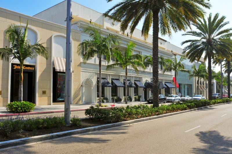 Azionamento del rodeo, Beverly Hills, Stati Uniti immagini stock libere da diritti