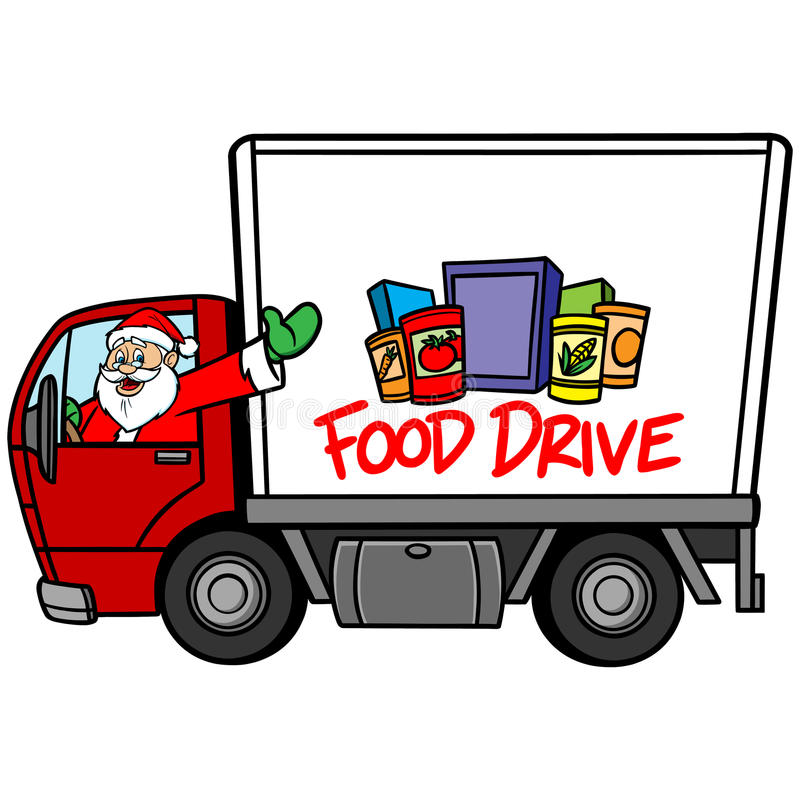 Azionamento dell'alimento di Natale illustrazione vettoriale