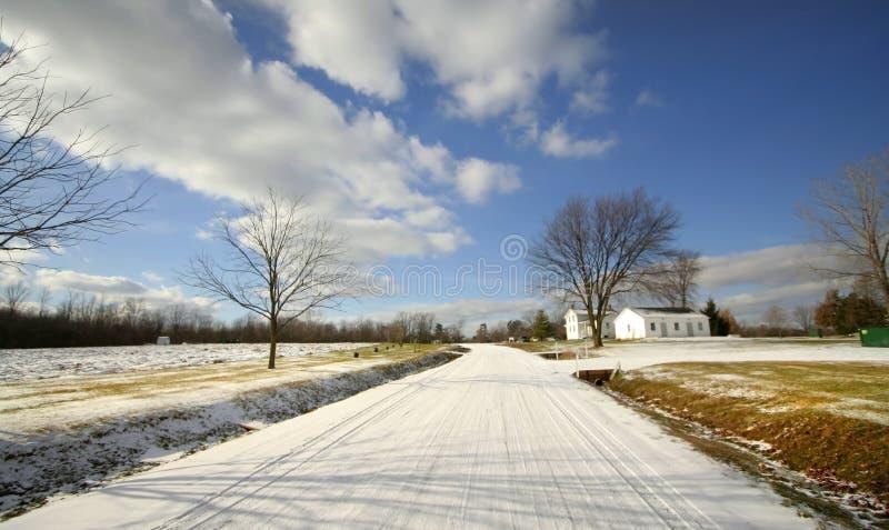 Azionamento di inverno fotografie stock libere da diritti