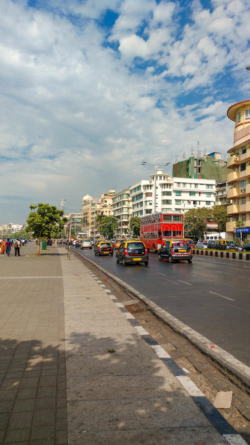 Azionamento marino, Mumbai fotografie stock