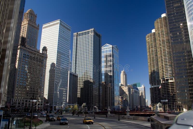 Azionamento orientale di Wacker, Chicago immagini stock