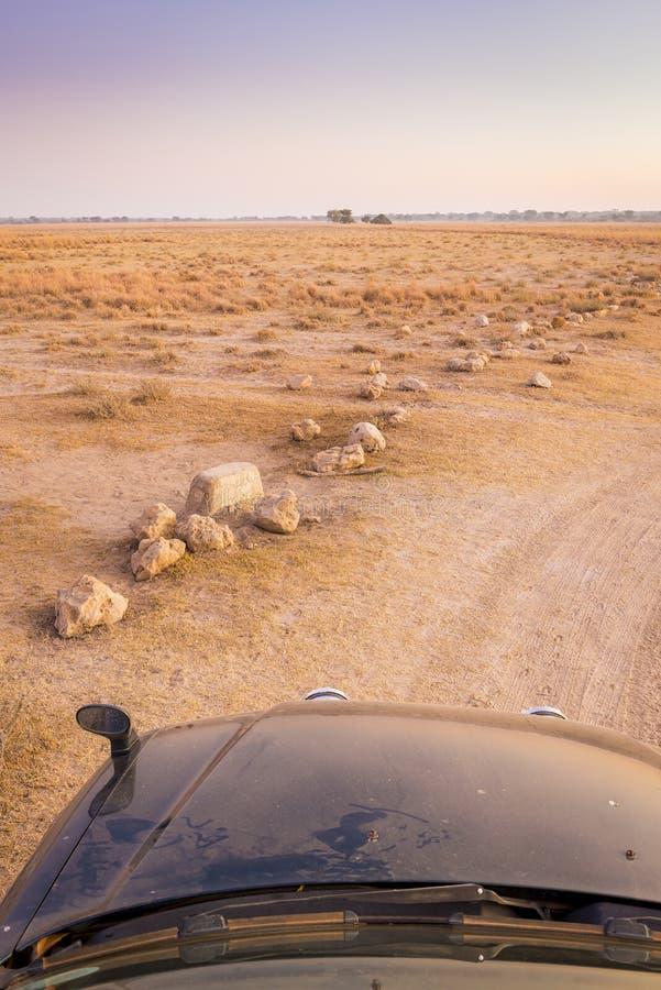 Azionamento Safari Africa di auto immagini stock