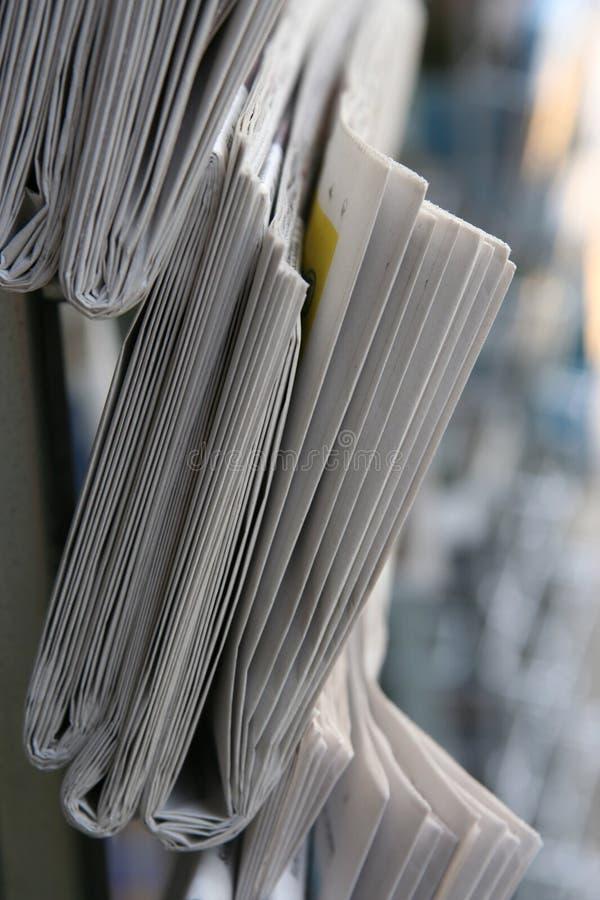 Azione del giornale fotografie stock