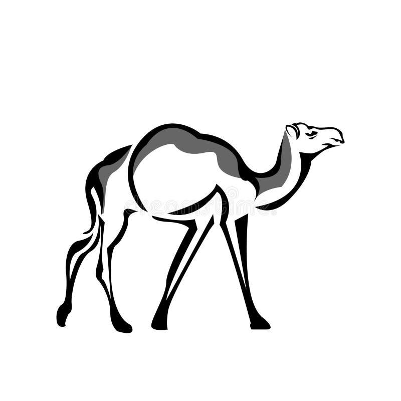 Azione dell'icona del cammello, progettazione piana Logo del cammello illustrazione di stock