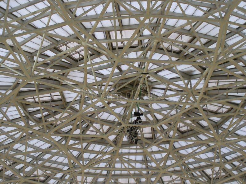 Azione della macchina fotografica delle luci al velodromo di Pechino fotografia stock