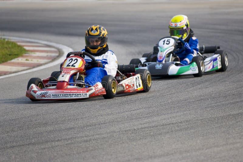 Azione di Karting fotografia stock libera da diritti
