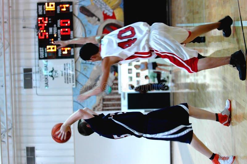 Azione di pallacanestro immagine stock libera da diritti