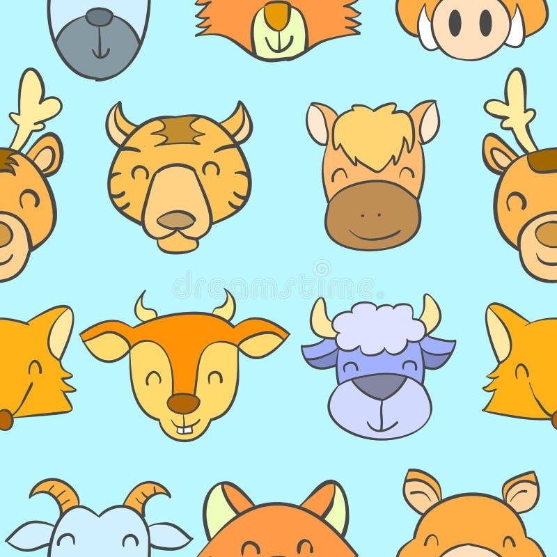 Azione di scarabocchio con stile sveglio animale royalty illustrazione gratis