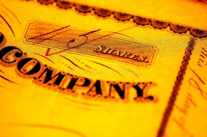 Download Azione Emessa Da Società Per Azioni Fotografia Stock - Immagine di investimento, commercio: 208092