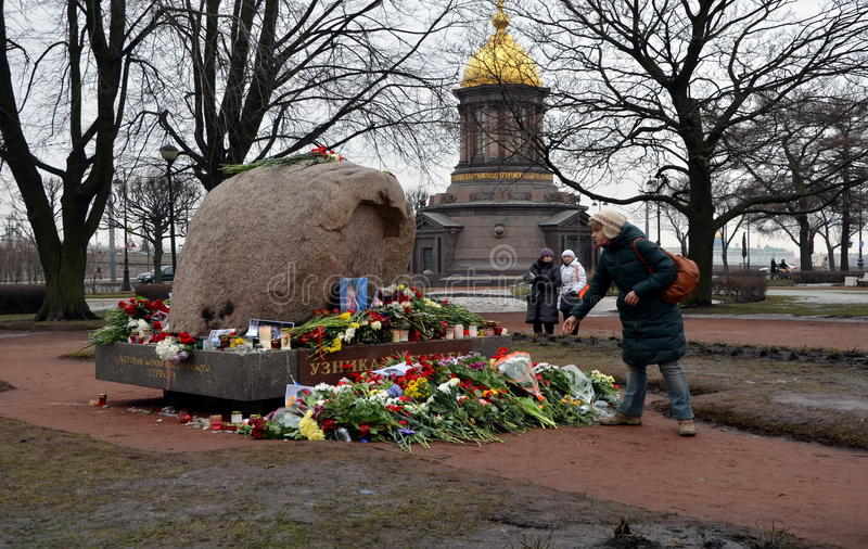 Azione in memoria di Boris Nemtsov fotografia stock