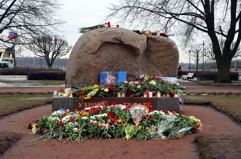 Azione in memoria di Boris Nemtsov fotografia stock libera da diritti