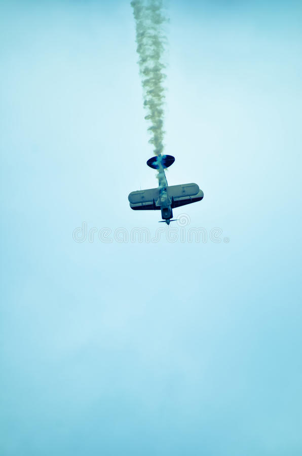 Azione nel cielo durante il airshow fotografia stock libera da diritti