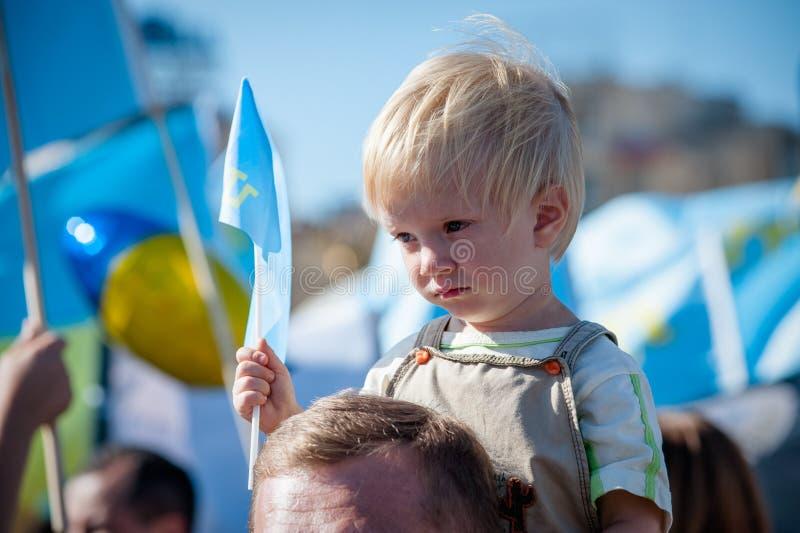 Azione nel supporto Ilmi Umerov immagini stock libere da diritti
