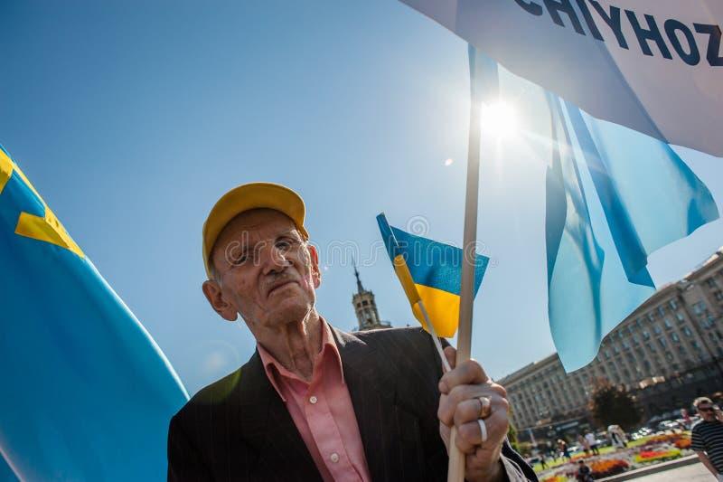 Azione nel supporto Ilmi Umerov fotografie stock libere da diritti