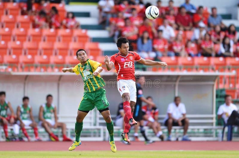 Azione nella Premier League tailandese immagini stock