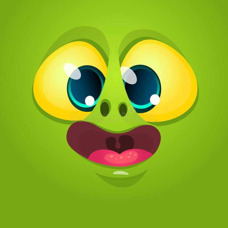 Azione straniere di vettore dell'illustrazione dell'avatar della creatura del fumetto del fronte illustrazione vettoriale