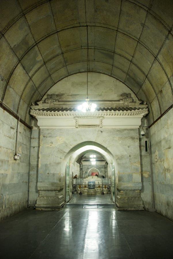 Azja chińczyk, Pekin, Ming dynastii Tombsï ¼ Œunderground palaceï ¼ ŒUnderground grobowiec obraz royalty free